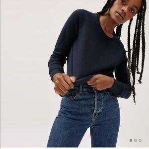 Everlane Cashmere Navy Blue Sweater Long Sleeve M